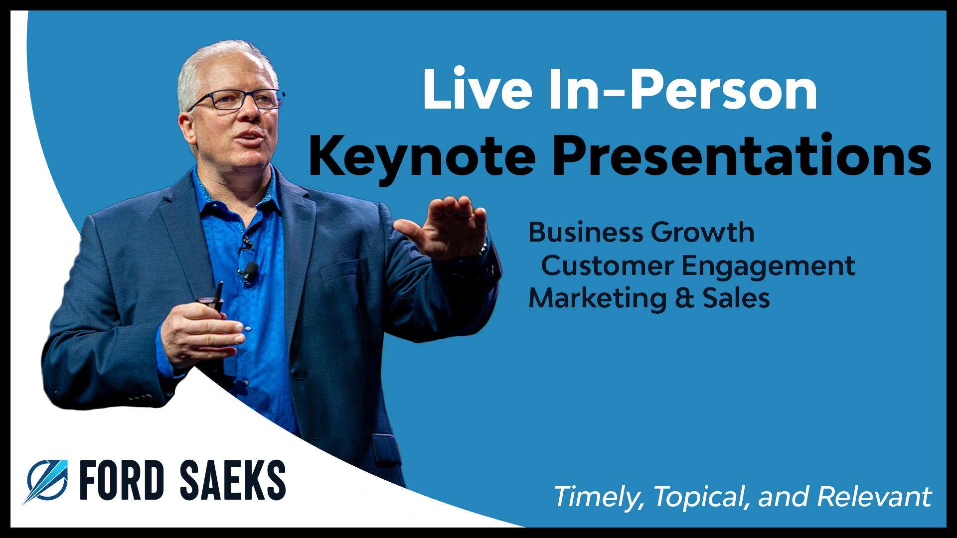 Speaker Preview Video | Ford Saeks - Franchise & Business Growth Keynote Speaker